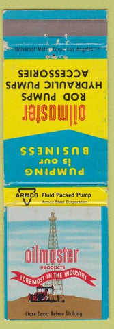 Matchbook Cover - Oilmaster Products oil wells ARMCO