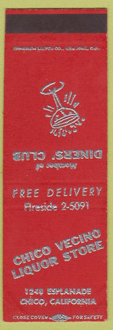 Matchbook Cover - Chico Vecino Liquor Chico CA SAMPLE