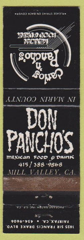 Matchbook Cover - Don Pancho's Mill Valley CA WEAR