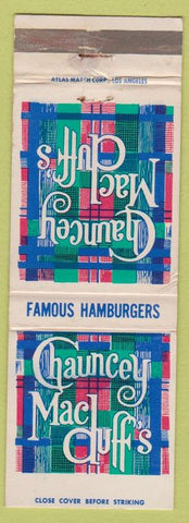 Matchbook Cover - Chauncey Mac Duff's Hamburgers San Francisco CA