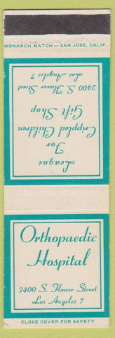Matchbook Cover - Orthopaedic Hospital Los Angeles CA SAMPLe