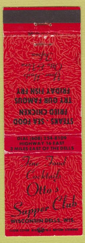 Matchbook Cover - Otto's Supper Club Wisconsin Dells WI WEAR