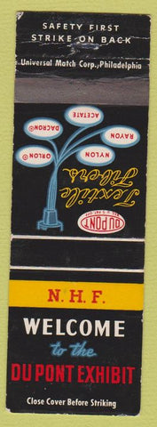 Matchbook Cover - Du Point Exhibit Wilmington DE WEAR
