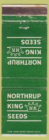 Matchbook Cover - Northrup King Seeds WORN Grass Alfalfa Pioneer