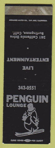 Matchbook Cover - Penguin Lounge Burlingame CA SAMPLE WEAR