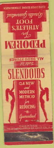 Matchbook Cover - Slendoids Slim Pedorem for Athlete's Foot girlie WEAR Drugs