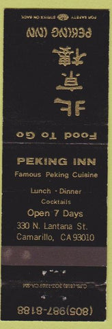 Matchbook Cover - Peking Inn Camarillo CA