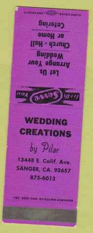 Matchbook Cover - Wedding Creations Sanger CA SAMPLE