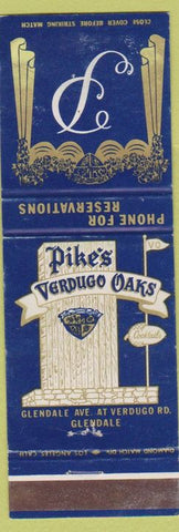 Matchbook Cover - Pike's Verdugo Oaks Glendale CA