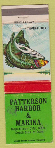 Matchbook Cover - Patterson Harbor Marina Republican City NE WEAR