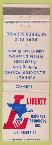 Matchbook Cover - Liberty Asphalt Products WEAR