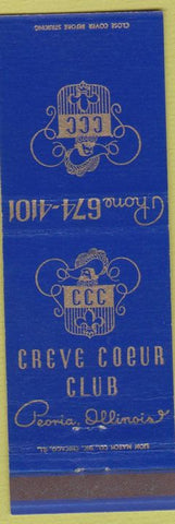 Matchbook Cover - Creve Coeur Club Peoria IL