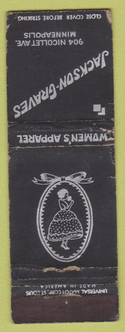 Matchbook Cover - Jackson Graves Women's Clothes girlie Minneapolis MN WORN