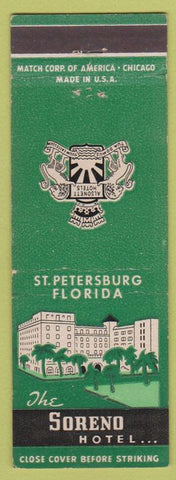 Matchbook Cover - Soreno Hotel St Petersburg FL