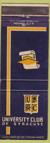 Matchbook Cover - University Club of Syracuse NY
