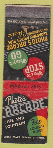 Matchbook Cover - Photo's Arcade Los Angeles CA WEAR
