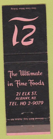 Matchbook Cover - 21  Albany NY WEAR