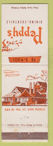 Matchbook Cover - Peppy's San Pedro CA WEAR