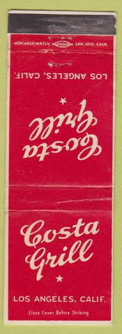Matchbook Cover - Costa Grill Los Angeles CA