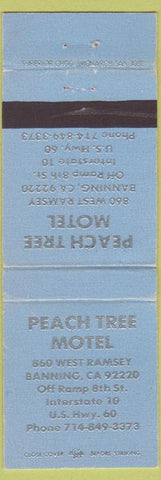Matchbook Cover - Peach Tree Motel Banning CA