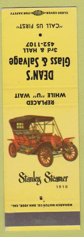 Matchbook Cover - Dean's Glass Salvage SAMPLE Insurance State Farm Geico