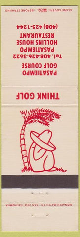 Matchbook Cover - Pasatiempo Golf Course Santa Cruz CA