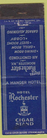 Matchbook Cover - Hotel Rochester NY Cigar Stand