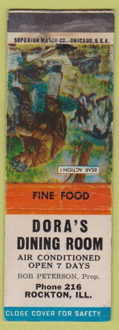 Matchbook Cover - Dora's Dining Room Rockton IL