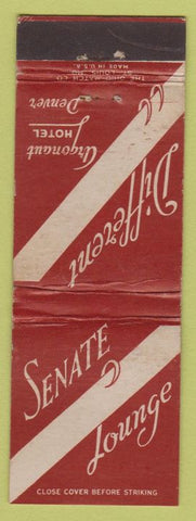 Matchbook Cover - Argonaut Hotel Denver CO Senate Lounge