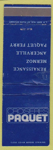 Matchbook Cover - Croiseres Paquet Ferry Ancerville Mermoz WEAR
