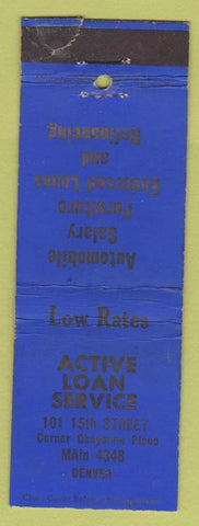 Matchbook Cover - Active Loan Service Denver CO