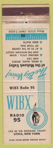 Matchbook Cover - WIBX Radio Utica NY