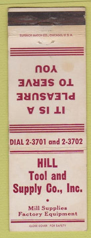 Matchbook Cover - Hill Tool and Supply Co Rockford IL WEAR