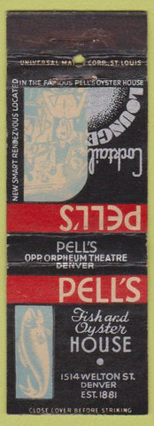 Matchbook Cover - Pell's Fish and Oyster House Denver CO