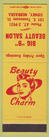 Matchbook Cover - Big B Beauty Salon Sidney NE girlie SAMPLE