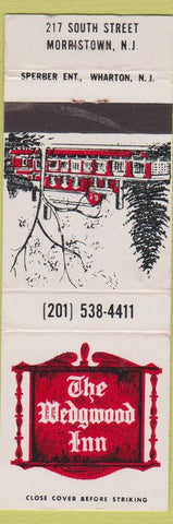 Matchbook Cover - The Wedgwood Inn Morristown NJ