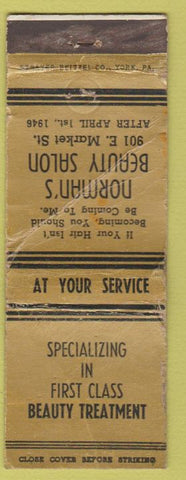 Matchbook Cover - Norman's Beauty Salon POOR PA?