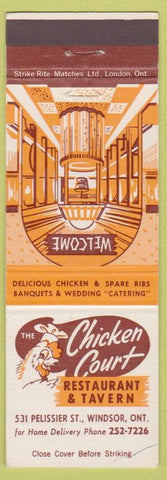 Matchbook Cover - Chicken Court Windsor ON
