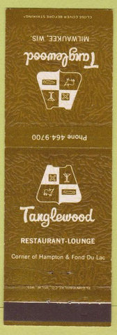 Matchbook Cover - Tanglewood Restaurant Milwaukee WI
