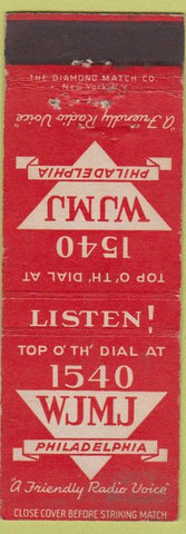 Matchbook Cover - WJMJ Radio 1540 Philadelphia PA