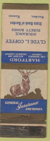 Matchbook Cover - Hartford Insurance Burden KS
