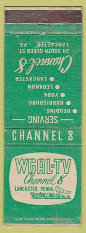 Matchbook Cover - WGAL TV Lancaster PA Reading York Lebanon WEAR