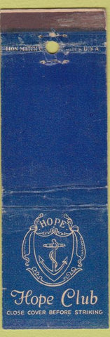 Matchbook Cover - Hope Club