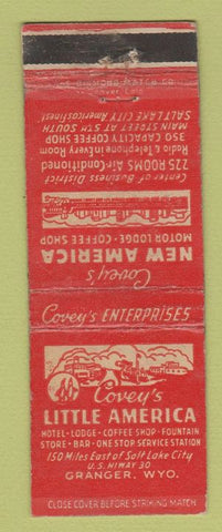 Matchbook Cover - Covey's Little America Granger WY WEAR