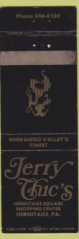 Matchbook Cover - Jerry Chick's Hermitage PA