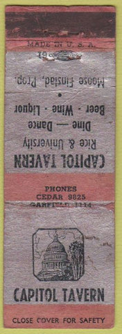 Matchbook Cover - Capitol Tavern POOR ST Paul? MN