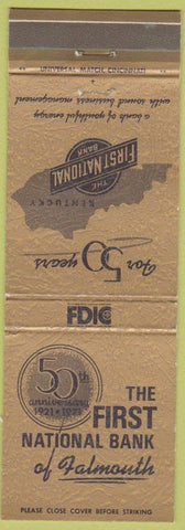 Matchbook Cover - First National Bank Falmouth KY?