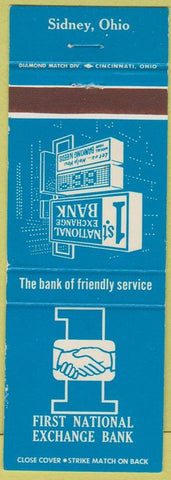 Matchbook Cover - First National Exchange Bank Sidney OH