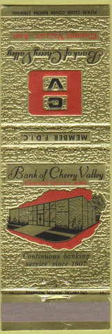 Matchbook Cover - Bank of Cherry Valley AR