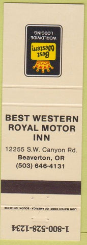Matchbook Cover - Best Western Beaverton OR